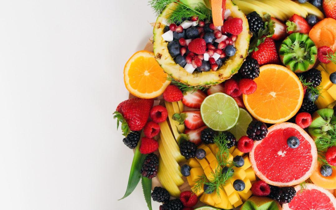 Frutas exóticas y vino sin alcohol para auténticos winners